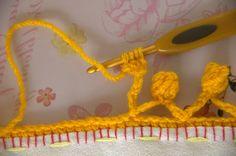 the heartfelt company: Bubbly crochet edging        ♪ ♪ ... #inspiration #crochet  #knit #diy GB  http://www.pinterest.com/gigibrazil/boards/