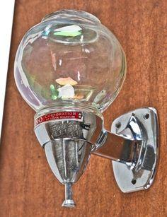 Vintage Industrial Wall Mount Liquid Soap Dispenser Glass