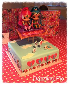 Shimmer and Shine cake made by Dazzling Pie
