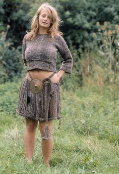 """Egtved dancing girl clothing reproduction. """"The Egtved Girl [ˈɛɡtʋɛð] (c. 1390–1370 BC) was a Nordic Bronze Age girl whose well-preserved remains were discovered outside Egtved, Denmark in 1921."""" quote from: http://en.wikipedia.org/wiki/Egtved_Girl"""