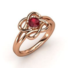 The Knotted Vines Ring #customizable #jewelry #ruby #rosegold #ring