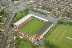 County Ground - Aerial - Swindon Town FC English Football Stadiums, British Football, English Football League, Swindon Town Fc, Around The Worlds, England, Homes, Architecture, Places