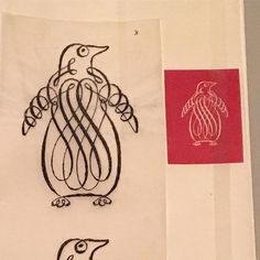 Went to a talk on Penguin book jacket design last night and caught a bit of the Elizabeth Friedlander exhibition at Ditchling Museum. She designed a lot of mid century book covers for Penguin and this is one of her calligraphic sketches for the logo. @museumartcraft #penguinbooks #elizabethfriedlander #midcentury #penandinkdrawing #midcenturyart #calligraphicart #ditchlingmuseum #continuouslinedrawing #penguin #bookjacket