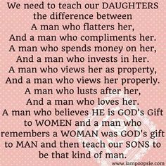 Teach daughters quote via www.IamPoopsie.com