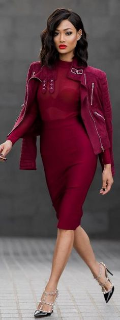 Wine time / Dress & jacket from Hot Miami Styles - Fashion by Miicah Gianneli #fashion