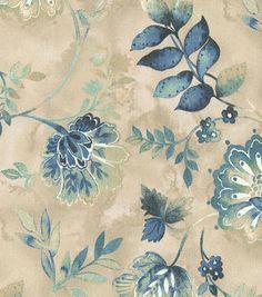 Kelly Ripa Home Light-Hearted Indigo Floral Cotton Fabric Velvet Upholstery Fabric, Drapery Fabric, Linen Fabric, Chair Fabric, Cotton Fabric, Curtain Material, Curtains, Cotton Silk, Beach Fabric