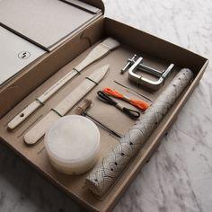 Kit para aprender técnicas de encuadernación japonesa de Fábrica de texturas.