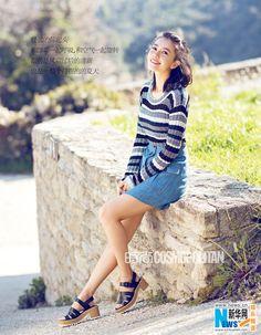 Actress Gao Yuanyuan  http://www.chinaentertainmentnews.com/2016/04/gao-yuanyuan-releases-new-fashion-shots.html