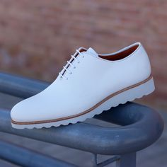 Unique Handcrafted All White Whole-cut w/ White Wedge sole – Le Ruux Stylish Mens Fashion, Mens Boots Fashion, Sneakers Fashion, Shoes Sneakers, Fashion Vest, Fashion Shirts, Fashion Hair, White Sneakers, Dress Fashion