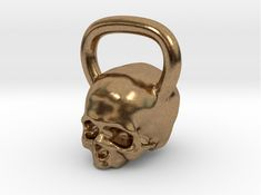 Check out Kettlebell Skull Pendant .75 Scale by themorg on Shapeways and discover more 3D printed products in Pendants and Necklaces.