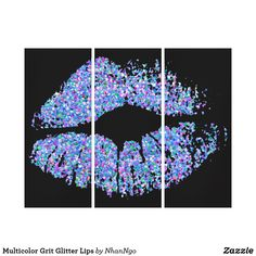 Shop Multicolor Grit Glitter Lips Canvas Print created by NhanNgo. Glitter Lips, Wall Art Sets, Canvas Prints, Poster, Design, Sparkle Lips, Photo Canvas Prints, Lip Gloss, Design Comics