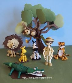 Quilled safari.