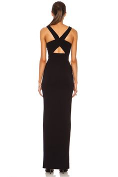 Image 4 of NICHOLAS Event Cross Over Poly-Blend Dress in Black