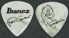 Ibanez Paul Gilbert Signature Heavy Guitar Picks Pearl White Pack of 6 by Ibanez. $7.19. Ibanez offers picks for just about every type of player, featuring different feels, functions and looks. Then there is the signature line of picks, which, in most cases, are exactly what the artists use. The Paul Gilbert White Signature Picks 6-Pack contains original shaped picks that are what guitarists with style and speed need. They're made to Paul's specs and feature his sig...