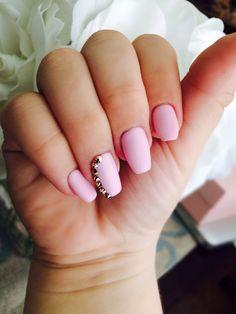 Swarovski crystals and matte gel manicure | Yelp