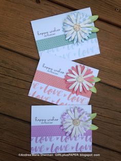 GIRLplusPAPER: CTMH Flower Market Crazy Daisy Happy Wishes Cards