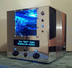 A modded (stripped, shined, Dremeled) NeXT Cube -- into a PC. #sad