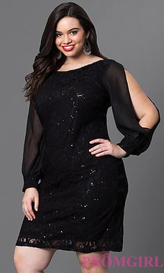 Full-Figure Dresses and Plus-Size Prom Gowns -PromGirl Plus Size Prom, Plus Size Gowns, Plus Size Outfits, Full Figure Dress, Plus Size Cocktail Dresses, Plus Size Fashion For Women, African Dress, Dress Backs, The Dress