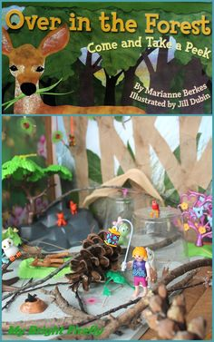 My Bright Firefly: Over in the Forest: Leaves Collage and Forest Small World