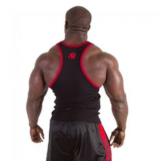 8fc5bdfd3feab Gorilla Wear Stamina Rib Tank Top-Black Red - MuscleStoreUSA Black Tank Tops