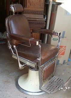 Antique Vintage Barber Chair Emil J Paidar