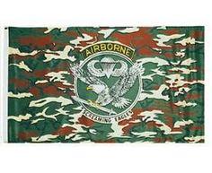 Mil-Tec Fahne US Airborne Tarn, 90x150cm / mehr Infos auf: www.Guntia-Militaria-Shop.de