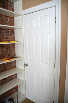 Ikea Hack: Billy Built-in Bookshelves (Part - Home Stories A to Z Ikea Billy Bookcase Hack, Bookshelves Built In, Bookshelf Ideas, Bookcases, Billy Regal, Ikea Cabinets, Room Tiles, Home Repair, Tall Cabinet Storage