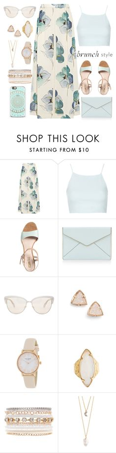 """Brunch style"" by samang ❤ liked on Polyvore featuring Tory Burch, Topshop, Pier 1 Imports, Rebecca Minkoff, Oliver Peoples, Kendra Scott, Kate Spade, HEATHER BENJAMIN, Lane Bryant and With Love From CA"