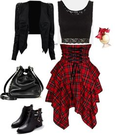 Grunge / rock winter outfits for women - Mode - Outfits Grunge Outfits, Mode Outfits, Casual Outfits, Girl Outfits, Fashion Outfits, Cute Punk Outfits, Fashion Ideas, Party Outfits, Casual Goth