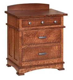 Amish Kenwood Nightstand with Five Drawers