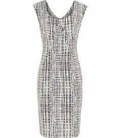 Reiss Ltd Reiss Garbo Print Print Structured Dress   Clothing