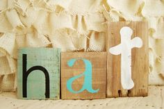 love the different sizes & shapes of these letters