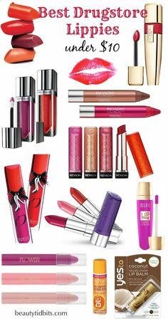 Best Drugstore Lip Products under $10 via BeautyTidbits