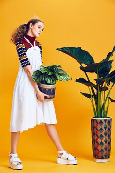 Spring Layering Trends for Refinery29 shot by JUCO - collaboration with artist Kat and Roger on the set design. Pedestals created by Canoe Los Angeles.