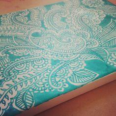 Henna doodle on canva