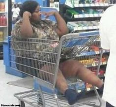 funny people of WalmarT  Question is how she got in and how she gonna get out!bahaha