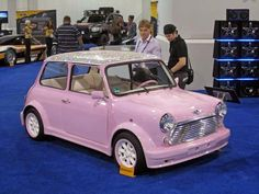 West Coast Customs Pink Mini Cooper w/Swarovski Crystal Roof