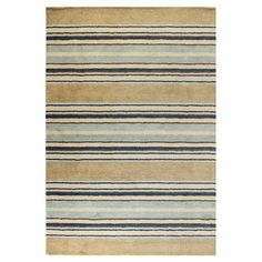 Wool rug with multicolor striping. Hand-loomed in India.   Product: RugConstruction Material: 100% Wool