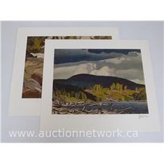 2 - A.J. Casson (1898-1992) - Casson Casson Matched # 3 Litho's 'Pugh Lake' and 'Oxtongue River' Embossed A.J.Casson - Approved (attn: 2 times the bid price) -
