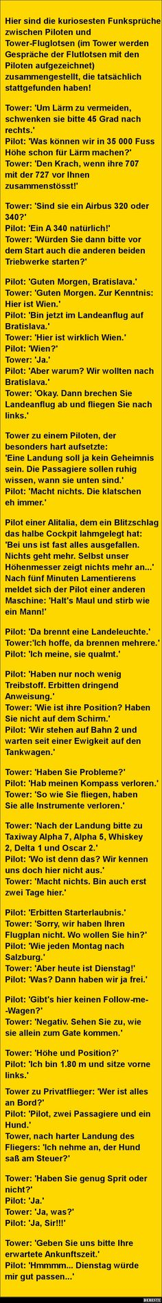 Here are the most curious radio messages between pilots Hier sind die kuriosesten Funksprüche zwischen Piloten. Here are the most curious radio messages between pilots . Haha, Funny Jokes, Hilarious, Avengers Memes, Pokemon, Just Smile, Funny Cute, Laugh Out Loud, I Laughed