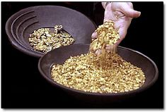 Panned Gold Nuggets