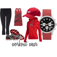 workout wear, created by gillianmb on Polyvore