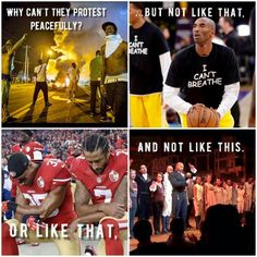 """When what they're really saying is """"why can't they just not protest..."""""""