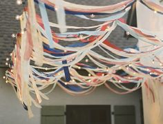 ribbon streamers and lights