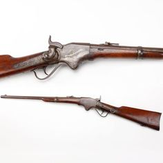 Spencer Lever-Action Repeating Carbine – Noted for its ability as a repeater, the GOTD was one of the more technologically advanced firearms of the Civil War. It used a state-of-the-art .56-56 rimfire metallic cartridge that loaded from the rear of the stock in a spring-loaded tubular magazine. The Spencer carbine was named after its inventor, Christopher Spencer, who was once employed by Samuel Colt.