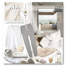 """""""Relax With Netflix"""" by rever-de-paris ❤ liked on Polyvore featuring Presto, Serena & Lily, Crate and Barrel, TOMS and Brunello Cucinelli"""