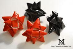 gift bow earrings diy