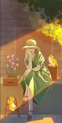 Anime Pixel Art, Cute Girl Drawing, Anime Scenery Wallpaper, Digital Art Girl, Cartoon Art Styles, Cute Cartoon Wallpapers, Anime Art Girl, Disney Art, Cute Art