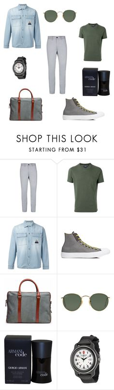 """Greenery ss17"" by amira-issa ❤ liked on Polyvore featuring Topman, Woolrich, Iceberg, Converse, La Portegna, Ray-Ban, Giorgio Armani, Victorinox Swiss Army, men's fashion and menswear"