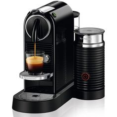 2016 Nespresso Citiz Espresso Coffee Maker W/ Aeroccino Plus Milk Frother  Black